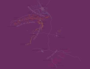 Карта виноделен и Домов Шампани